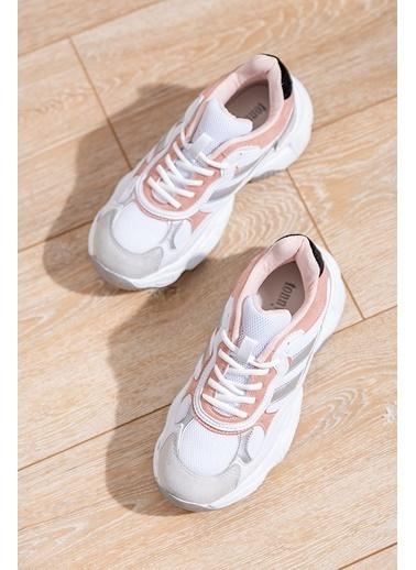 Tonny Black Beyaz Pudra Bayan Spor Ayakkabı Tb246  Beyaz